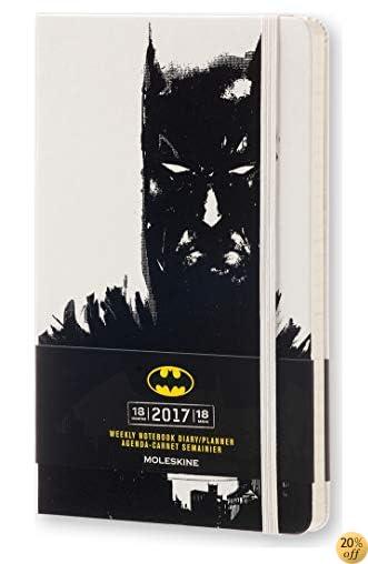 TMoleskine 2016-2017 Batman Limited Edition Weekly Notebook, 18M, Large, White, Hard Cover (5 x 8.25)