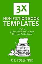 3X NON FICTION BOOK TEMPLATES (Part 3): 3…