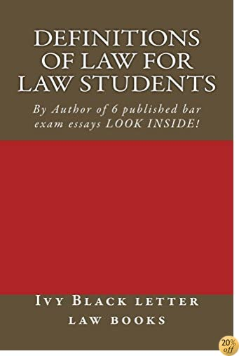 Definitions of Law For Law Students: A Jide Obi Law School book
