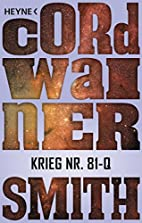 War No. 81-Q by Cordwainer Smith