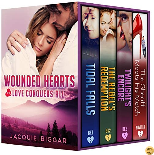 TWounded Hearts- Books 1-4: Love Conquers All (A Romantic Suspense Collection)