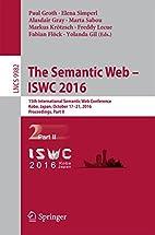The Semantic Web - ISWC 2016: 15th…