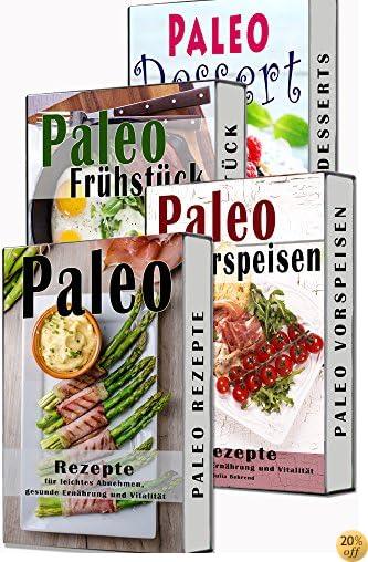 Paleo BOX: Superfood Rezepte, 4 in 1 SET, Paläo,Steinzeiternährung,Steinzeitdiät, Powerfood Rezepte zum Abnehmen (Paleo, Paläo, Steinzeitdiät, Steinzeiternährung, ... Matcha, Quinoa, Detox) (German Edition)