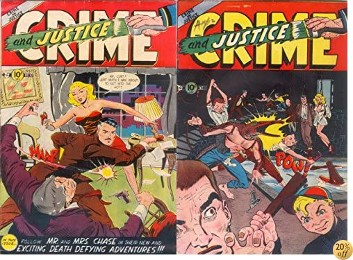 TCrime and Justice Issues 10 & 11. Follow Mr and Mrs chase in their new and exciting death defying adventures. (Golden age crime and justice comics Book 3)