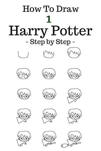 how-to-draw-harry-potter-step-by-step-to-draw-cartoon-character-harry-hermione-ron-hagrid-malfoy-dobby-hedvig-basic-volume-1