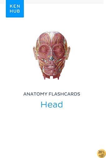 Anatomy flashcards: Head: Learn all organs, muscles, arteries, nerves and veins on the go (Kenhub Flashcards Book 63)