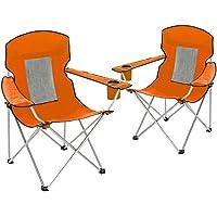 Set of 2 Alpine Design Oversize Mesh Camping Chair