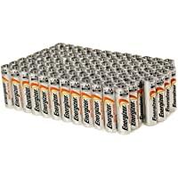 100 Pack Energizer Advanced AA Alkaline Batteries