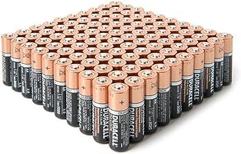 100-Pack Duracell AA Alkaline Batteries