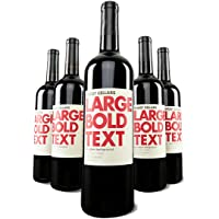5-Pack Woot Cellars LARGE BOLD TEXT Dry Creek Valley Zinfandel Wine