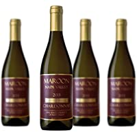 4-Pack Maroon Napa Valley Chardonnay Wine
