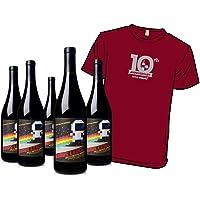 Woot Cellars Bonus Level 5-Pack with Wine.Woot 10th Anniversary T-Shirt