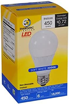 12-Pk. Energetic Lighting 450 Lumen Lightbulbs