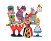 Alice in Wonderland cute Mini Figures - Pack of 6