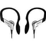 Panasonic RP-HS16-S In-Ear Earbud Heaphones With Flexible Ear Hinge (Silver)