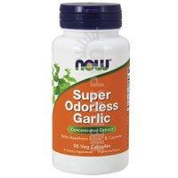 Garlic Super Odorless, With Hawthorn & Cayenne, 90 Capsules,