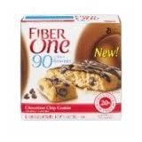 Fiber One Breakfast Bars Brownie Chocolate Chip Cookie, 5.34 OZ (Pack Of 12)