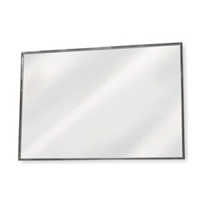 flat bathroom mirror frameless flat mirror 36 x 72 in h glass mounted 12847