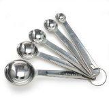 Danesco 1304856 Stainless Steel Measuring Spoons, Set Of 5