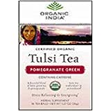 Organic India Tulsi Green Tea Pomegranate 18 Tea Bags