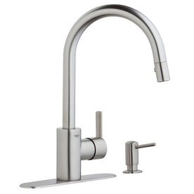 cheap compare reviews grohe feel chrome 1 handle pull down kitchen faucet weekly hot discount