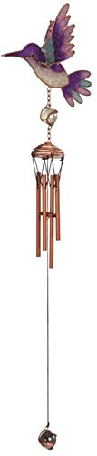 Copper Wind Chime Hummingbird