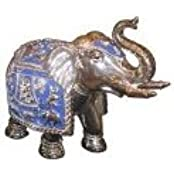 Elephant, Blue And Silver Big - Statue Sculpture Home Decor, Ideal Gift To Your Loved Ones
