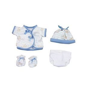Blue Clothing W/Diaper For 15 In Baby