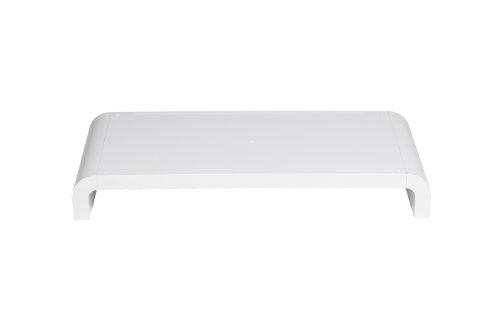 Lavolta Design Schreibtischregal Ständer für Monitor Bildschirm LCD TV 15 Zoll - 27 Zoll - Weiß