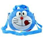 Cute Doraemon Style Soft Plush Shoulder/Handheld Bag(Blue)
