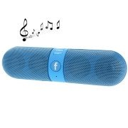 F-808 Mini Pill Portable Multi-function Bluetooth Speaker With FM Radio, Support TF Card / Handsfree(Blue)