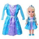 Disney Frozen Elsa Doll & Toddler Dress Gift Set