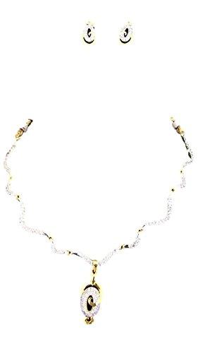 Apex Gold & White Brass Necklace Set For Women - B00U145NCK