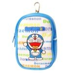 Lovely Cartoon Pattern Style Soft Leatherette Protective Pouch with Keychain for Electronics-Doraemon