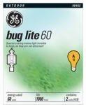 G E Lighting Ge 2Pk 60W Yel Bug Bulb  97495 Light Bulbs Bug