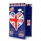 I Love London Pattern PU Leather Passport Holder - Red + White + Blue