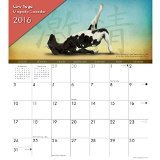 Cow Yoga Magnetic 2016 Wall Calendar by Willow Creek Press