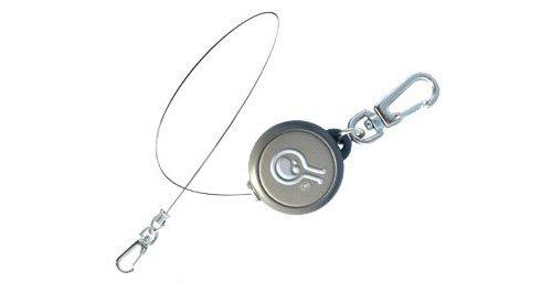 HAZARD 4 Civilian Rewind Gear Retractor Steel Cable Keychain Style Spring Winding Lanyard, Grey