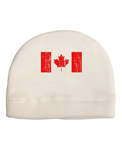 Trump and Clinton Halloween Costumes - Choose Edgy or Funny - TooLoud Distressed Canadian Flag Maple Leaf Adult Fleece Beanie Cap Hat