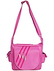 Naaz Bags Collection Side Flap Pockets Pink Sling Bag