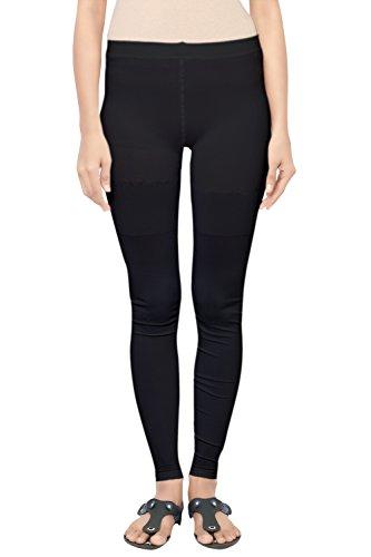 Fashion And Freedom Women's Black Cotton Seamless Legging