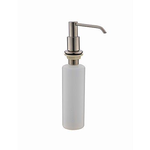 kitchen sink soap dispenser replacement pump vccucine modern stainless steel brushed nickel kitchen 9576