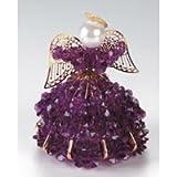 Birthstone Angel Ornament Bead Kit - February Amethyst