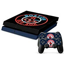 Elton Boston-Red-Sox Theme 3M Skin Sticker Cover For PS4 Console And Controllers