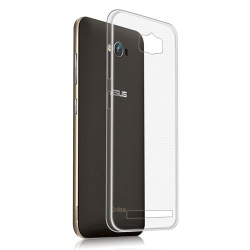 Clear Transparent Flexible Soft TPU Slim Back Case Cover For Asus Zenfone Max