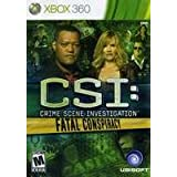 New Ubisoft Sdvg Csi Fatal Conspiracy Product Type Xbox 360 Game Sub Genre Video Action Adventure