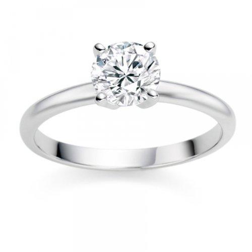 Haut Diamond Manufacturers – Bague de fiancailles avec diamant Rond  DU24
