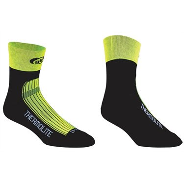 Bbb Cyclisme - Chaussettes de vélo d'hiver bbb thermofeet néon bso-11, taille l (43-46), jaune