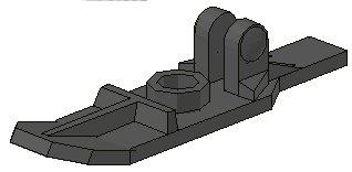10 Lego Schneeschuhe Dunkelgrau (6120)