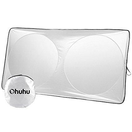 Ohuhu Auto Car Sun Shade Windshield Cover Visor Protector Sunshades Awning Shade 59 x 27.55 inches